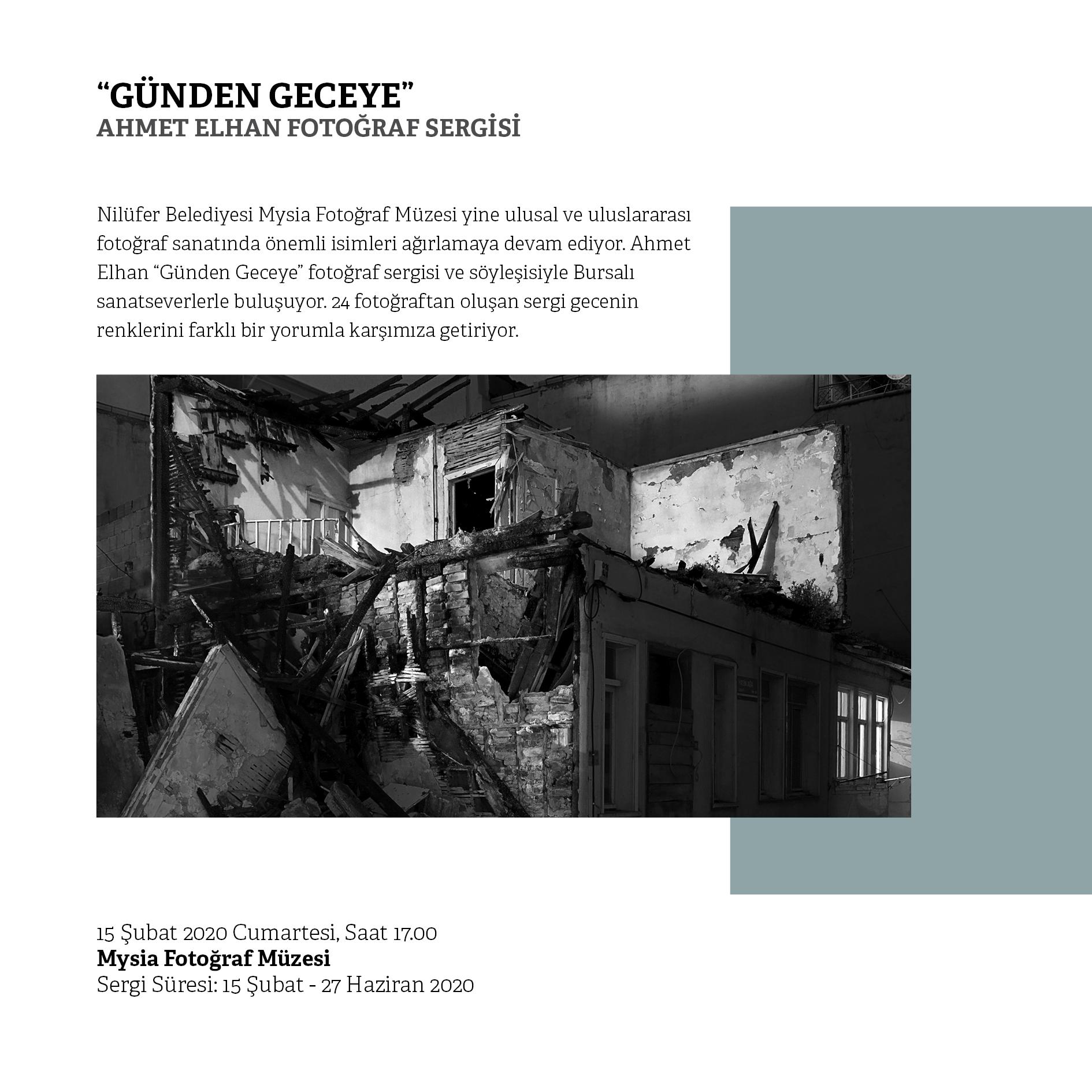 Günden Geceye | Ahmet Elhan Fotoğraf Sergisi