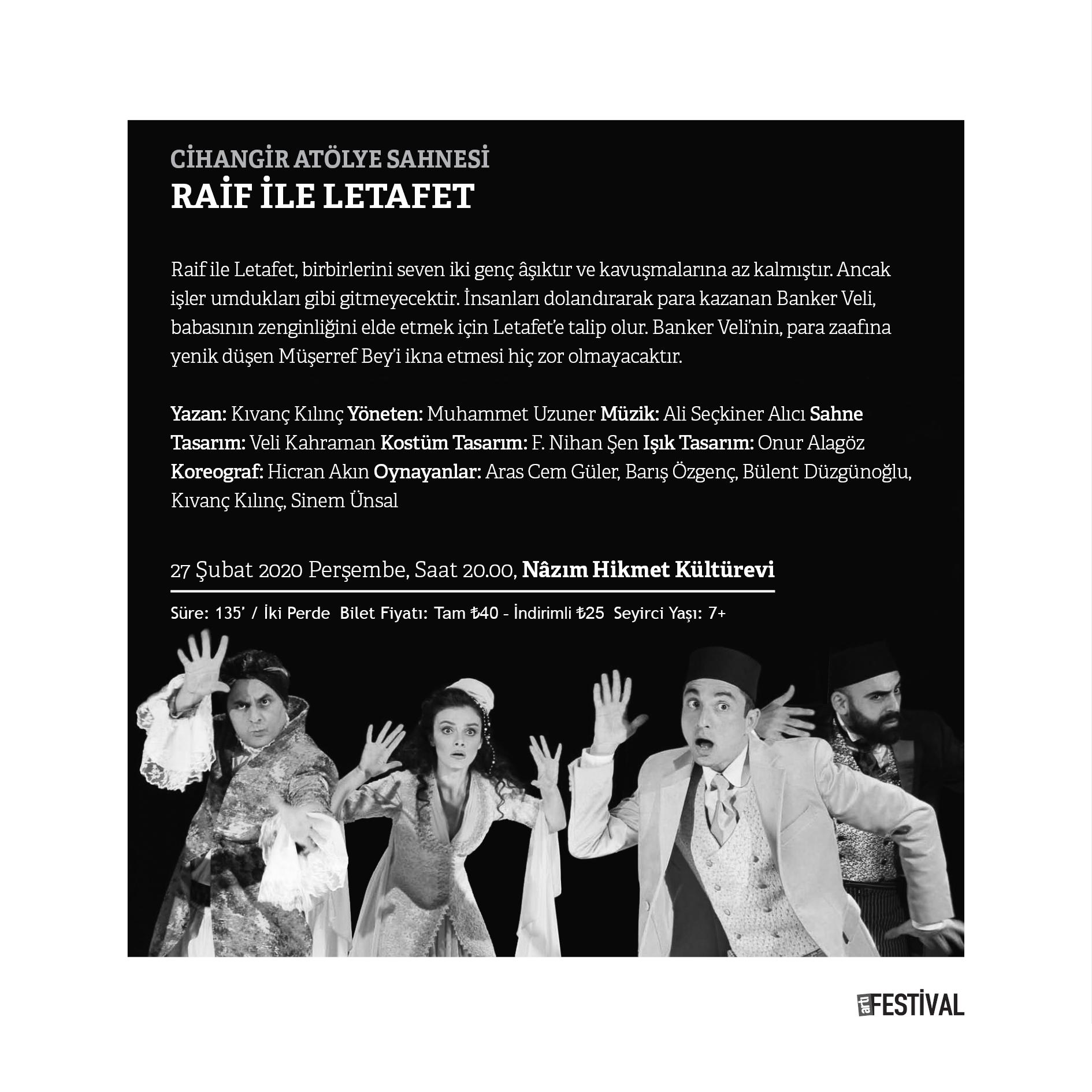 Raif ile Letafet | artı Festival